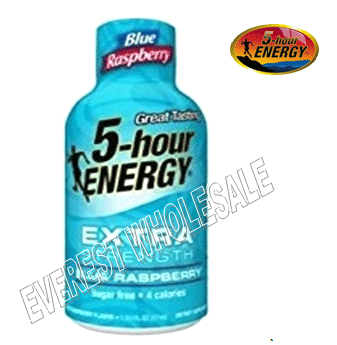 Five Hour Energy Drink Extra Strength* Blue Raspberry * 12 count