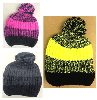 Winter hat Fluorescent Polar Fleeced * Assorted Colors * 6 pcs