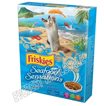 Friskies Dry Cat Food 16.2 oz * Seafood Sensations * 12 pcs
