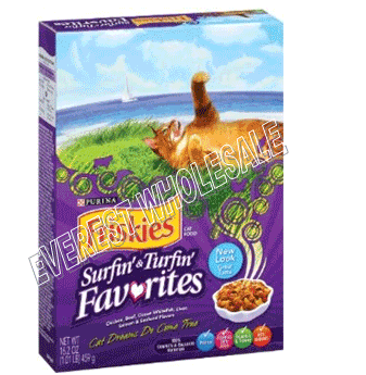 Friskies Dry Cat Food 16.2 oz * Surfin & Turfin * 12 pcs