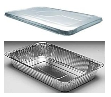 Aluminum Food Pan Full Size With Lid Combo 50 ct