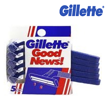 Gillette Good News Disposable Razor 5 ct * 12 pcs