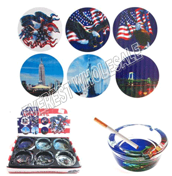 Glass Ashtray * American Heritage * 6 pcs