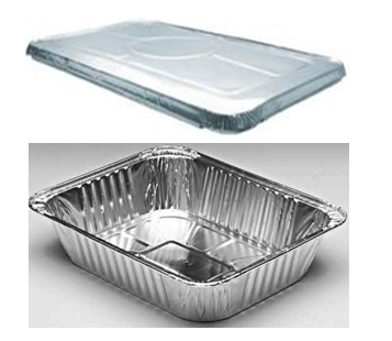 Aluminum Food Pan Half Size With Lid Combo 100 ct