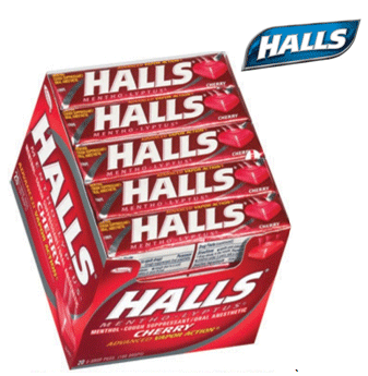 Halls Candy * Cherry * 20 ct / pack