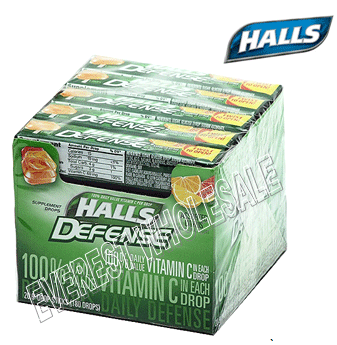 Halls Candy Defense * Assorted Citrus * 20 ct / pack