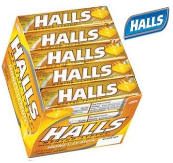 Halls Candy Honey Lemon 20 ct / pack