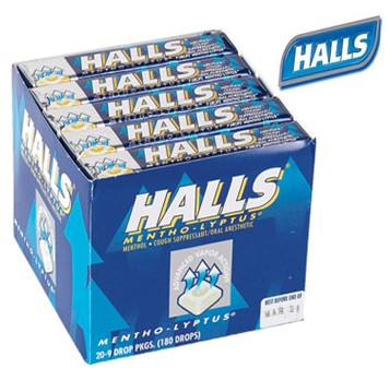 Halls Candy * Mentho Lyptus * 20 ct / pack