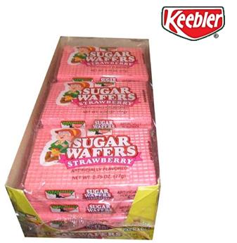Keebler Sugar Waffers 2.75 oz * Strawberry * 12 pcs