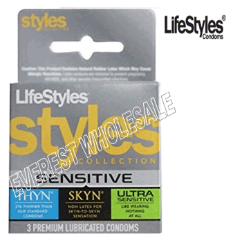 Life Styles 3 in Pack * Sensetive * 6 pks
