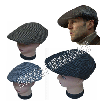 Men's Beret With Lining * Assorted * 6 pcs