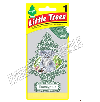 Little Trees Car Freshener * Eucalyptus * 1`s x 24 ct