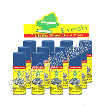 Little Trees Car Freshener in Can 2.5 oz * New Car Scent * 12 pcs
