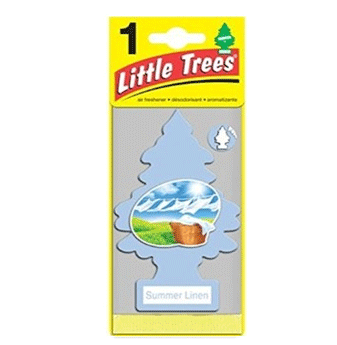 Little Trees Car Freshener * Summer Linen * 1`s x 24 ct