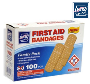 Lucky Band Aid Family Pack including 100 ct Box * 6 Boxes