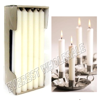 White Dinner Candles 72 ct / Box