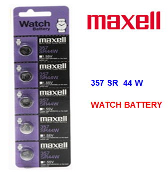 Maxell Watch Battery 357 SR 44 W * 5 pcs / pack