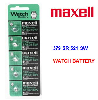 Maxell Watch Battery 379 SR 521 SW * 5 pcs / pack