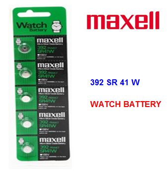 Maxell Watch Battery 392 SR 41 W * 5 pcs / pack