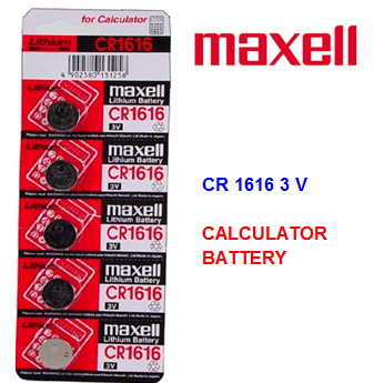 Maxell Calculator Battery CR 1616 3V * 5 pcs / pack
