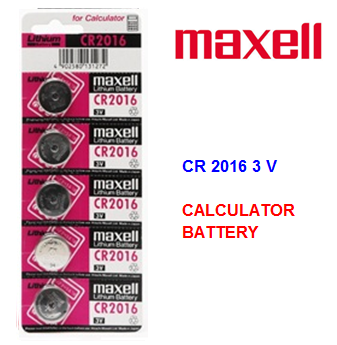 Maxell Calculator Battery CR 2016 3 V * 5 pcs / pack