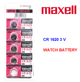 Maxell Watch Battery CR 1620 3V * 5 pcs / pack
