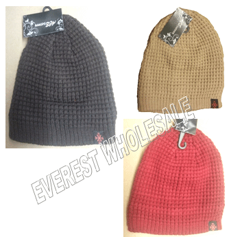Winter Hat Knit Polar Fleeced * Assorted Colors * 6 pcs