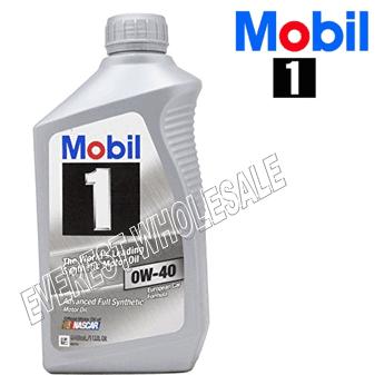 Mobil 1 Full Synthetic Motor Oil 1 Qt * 0W-40 * 6 pcs