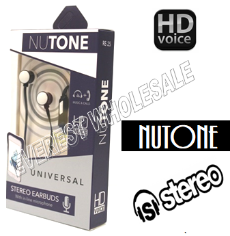 Nutone Universal Earphones with Microphone * Black