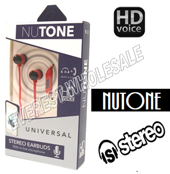 Nutone Universal Earphones with Microphone * Red