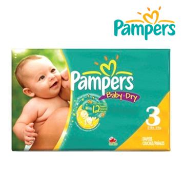 Pampers Baby Diapers ** No. 3 ** 24 ct x 4 pks