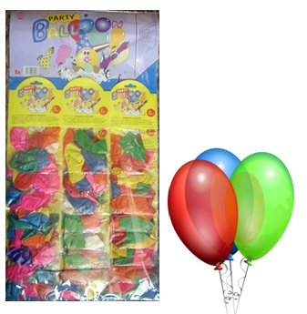 Party Baloons Assorted Colors 24 pck