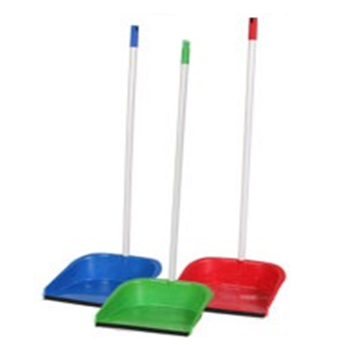 Plastic Dust Pan With Handle * Assorted Colors * 12 pcs
