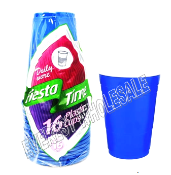 Plastic Party Cup 16 ct Pack * Blue Color * 24 Packs