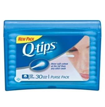 Qtips Cotton Swab Pocket Size 30 ct * 6 pcs