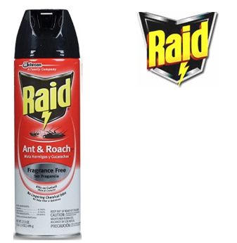 Raid Ant & Roach Killer 17.5 fl oz * Fragrance Free * 12 pcs