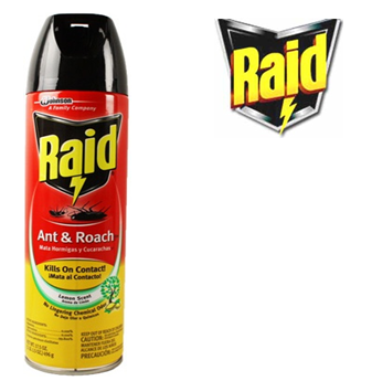 Raid Ant & Roach Killer 17.5 fl oz * Lemon Scent * 12 pcs
