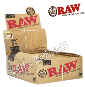 Raw Cigarette Paper Classic King Size Slim * 50 ct