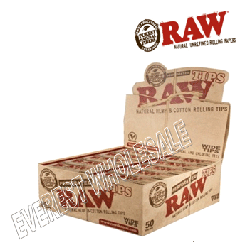 Raw Perforated Tips Wide * 50 pcs