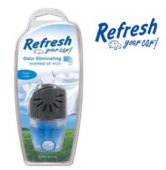Refresh Scented Oil Wick * Fresh Linen * 0.24 fl oz ( 7 ml ) / 4 pcs