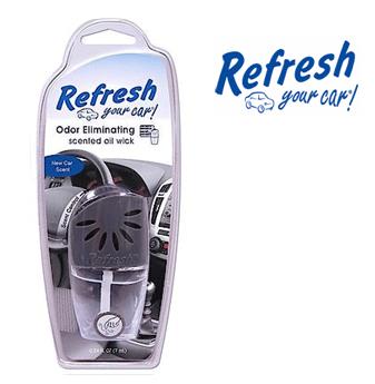 Refresh Scented Oil Wick * New Car Scent * 0.24 fl oz ( 7 ml ) / 4 pcs