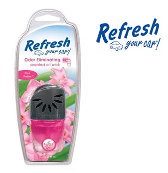 Refresh Scented Oil Wick * Pink Petals * 0.24 fl oz ( 7 ml ) / 4 pcs