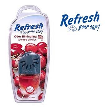 Refresh Scented Oil Wick * Very Cherry * 0.24 fl oz ( 7 ml ) / 4 pcs