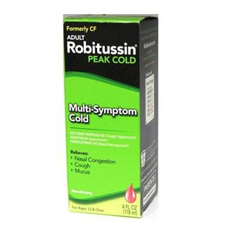 Robitussin Adult Cold & Cough CF 4 fl oz / Box * 6 Boxes