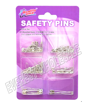 Safety Pins Assorted Size 120 ct pack * 12 Packs