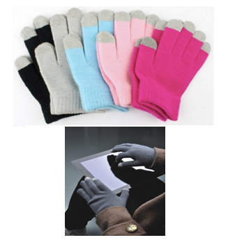 Screen Touch Gloves * Assorted Colors * 12 pcs