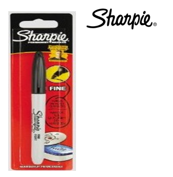 Black Permanent Marker Blister * Sharpie * 12 pcs
