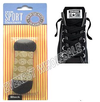 Shoe Lace 27 inch 1 pair / pack * Black * 12 pks