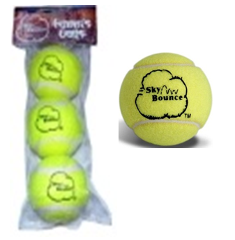 Sky Bounce Tennis Playing Balls 3 in Pack * 6 pks