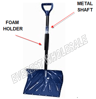 Snow Shovel with Metal Shaft & Foam holder * Heavy Duty